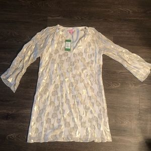 Lilly Pulitzer Gold Palm Trees Dress